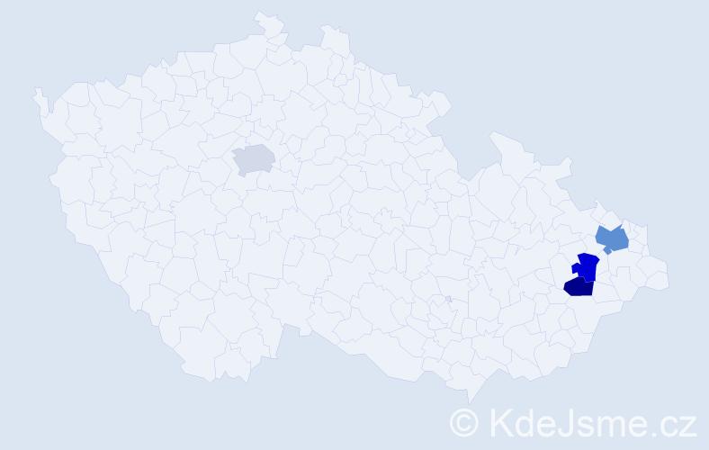 Příjmení: 'Ballnerová', počet výskytů 5 v celé ČR