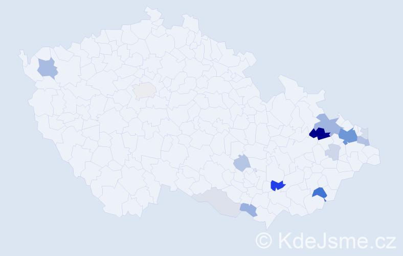 Příjmení: 'Lenart', počet výskytů 48 v celé ČR