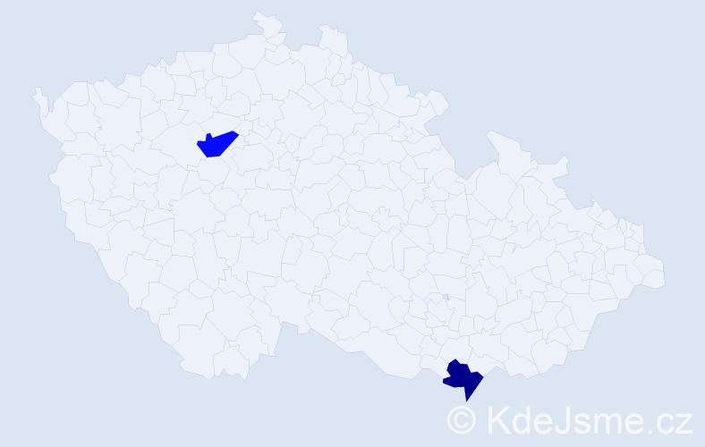 Příjmení: 'Fečkanin', počet výskytů 11 v celé ČR