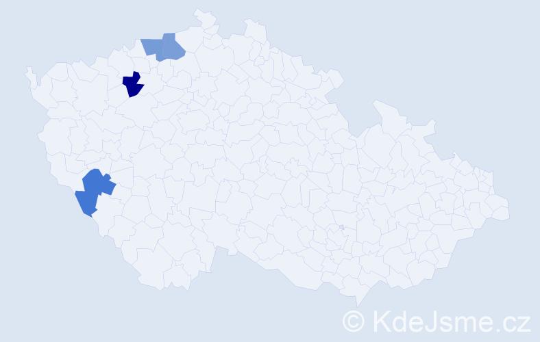 Příjmení: 'Horkoličová', počet výskytů 4 v celé ČR