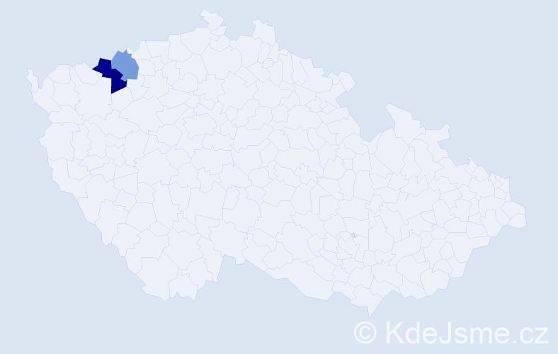 Příjmení: 'Išler', počet výskytů 3 v celé ČR