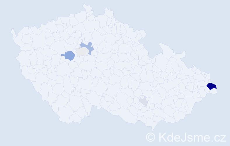 Příjmení: 'Harmata', počet výskytů 9 v celé ČR