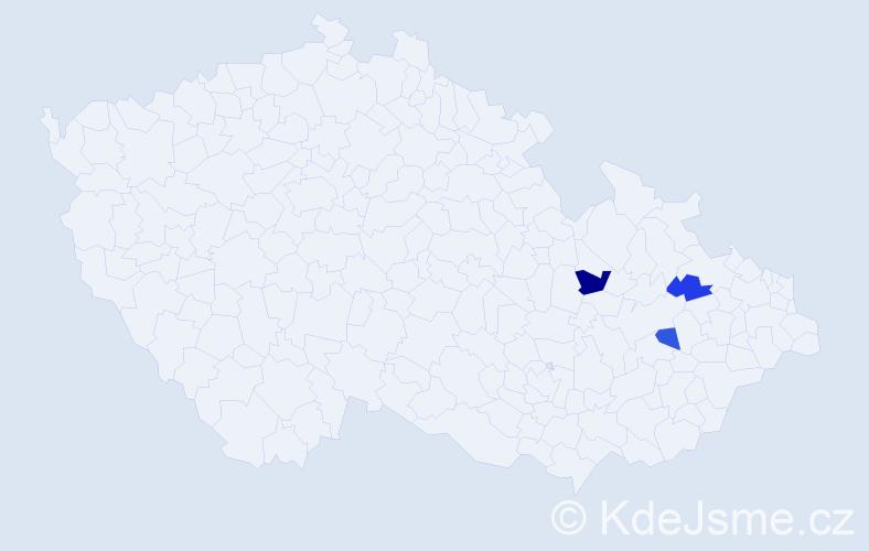 Příjmení: 'Garbolinská', počet výskytů 4 v celé ČR