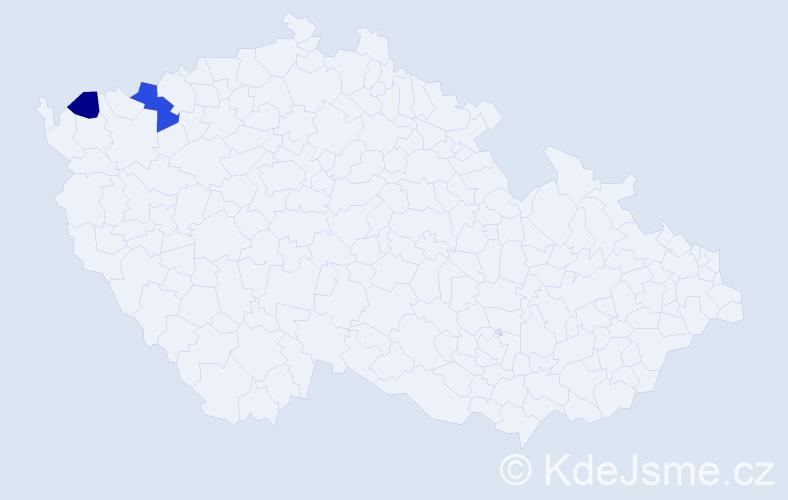 Příjmení: 'Denaluc', počet výskytů 3 v celé ČR