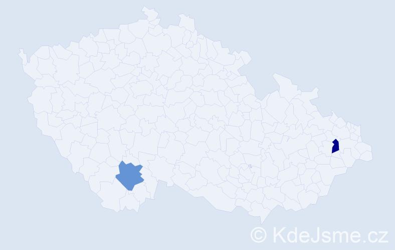 Příjmení: 'Hetherington', počet výskytů 2 v celé ČR