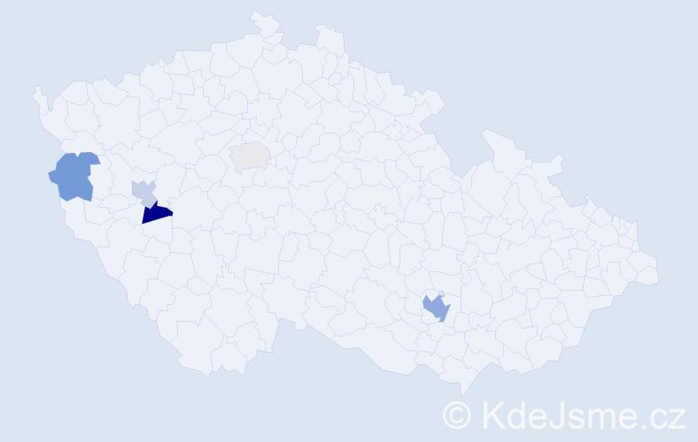 Příjmení: 'Kirinovič', počet výskytů 8 v celé ČR