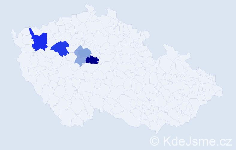 Příjmení: 'Kholl', počet výskytů 18 v celé ČR