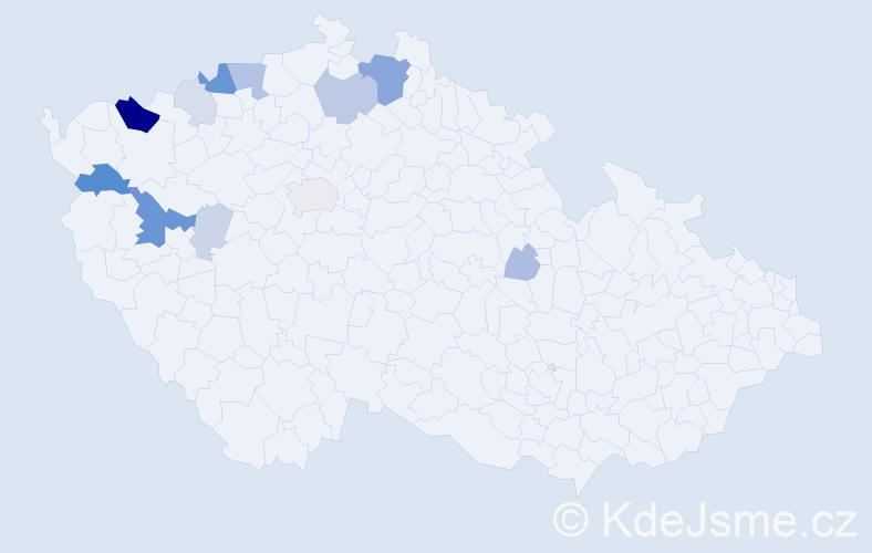 Příjmení: 'Hellmich', počet výskytů 36 v celé ČR