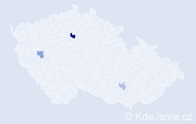 Příjmení: 'Fangová', počet výskytů 3 v celé ČR