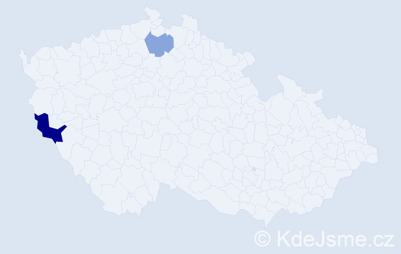 Příjmení: 'Apfelbeck', počet výskytů 7 v celé ČR