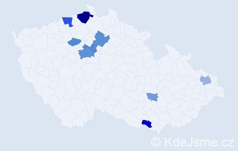 Příjmení: 'Issa', počet výskytů 33 v celé ČR