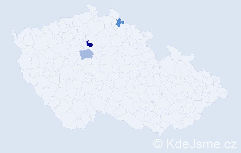 Příjmení: 'Denke', počet výskytů 14 v celé ČR