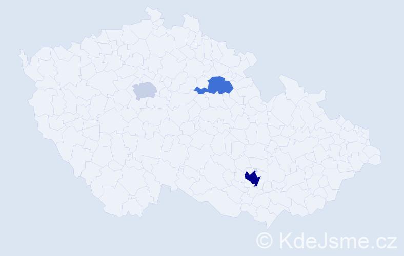 Příjmení: 'Fedr', počet výskytů 6 v celé ČR
