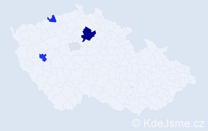 Příjmení: 'Larson', počet výskytů 8 v celé ČR