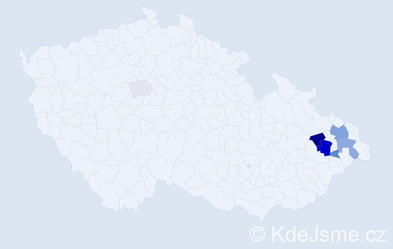 Příjmení: 'Golichová', počet výskytů 18 v celé ČR