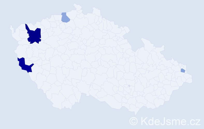 Příjmení: 'Janiss', počet výskytů 8 v celé ČR