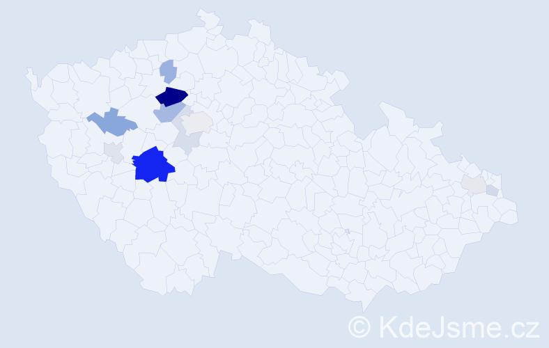 Příjmení: 'Falcníková', počet výskytů 29 v celé ČR
