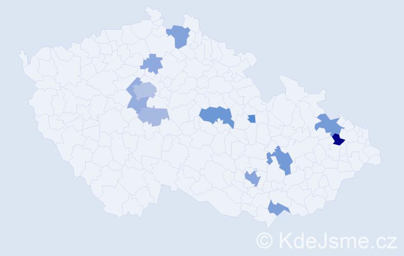 Příjmení: 'Gomez', počet výskytů 38 v celé ČR