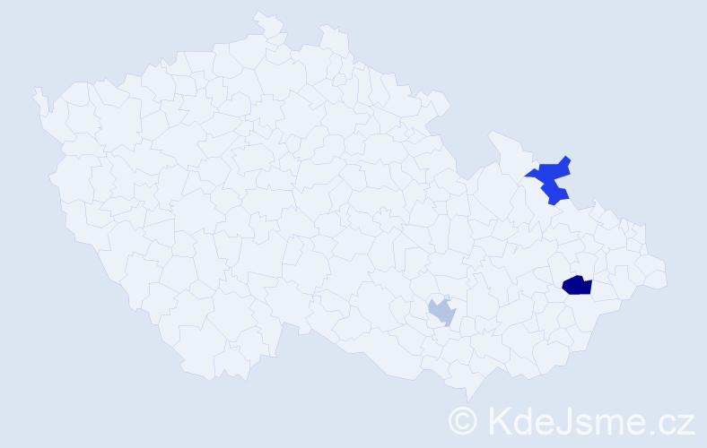 Příjmení: 'Baruchová', počet výskytů 7 v celé ČR