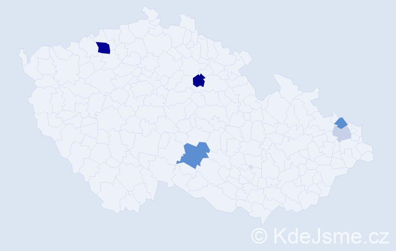 Příjmení: 'Górková', počet výskytů 9 v celé ČR
