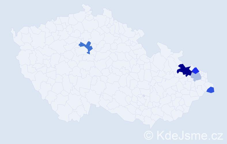 Příjmení: 'Lagan', počet výskytů 14 v celé ČR
