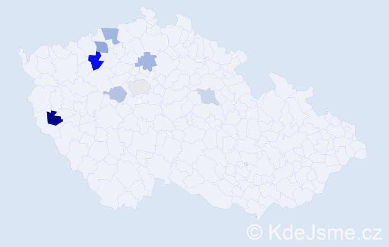 Příjmení: 'Diepolt', počet výskytů 14 v celé ČR