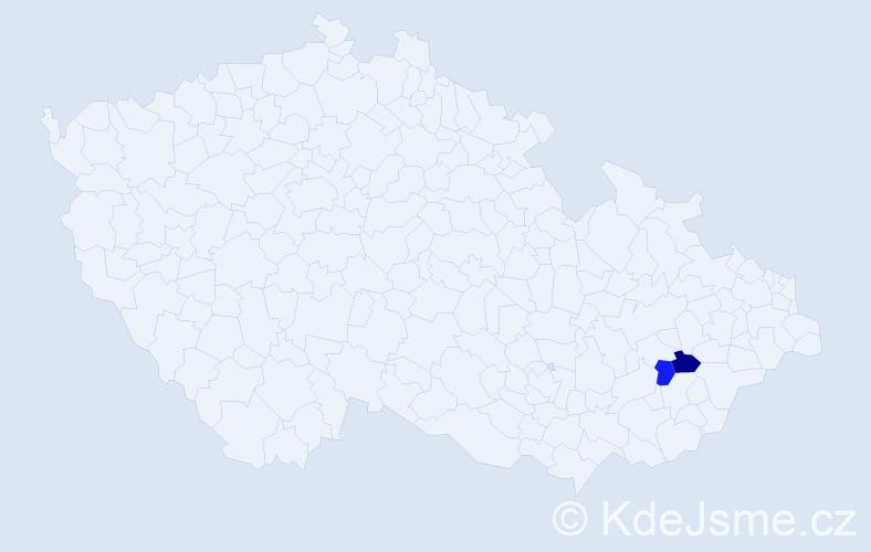 Příjmení: 'Bajczer', počet výskytů 2 v celé ČR