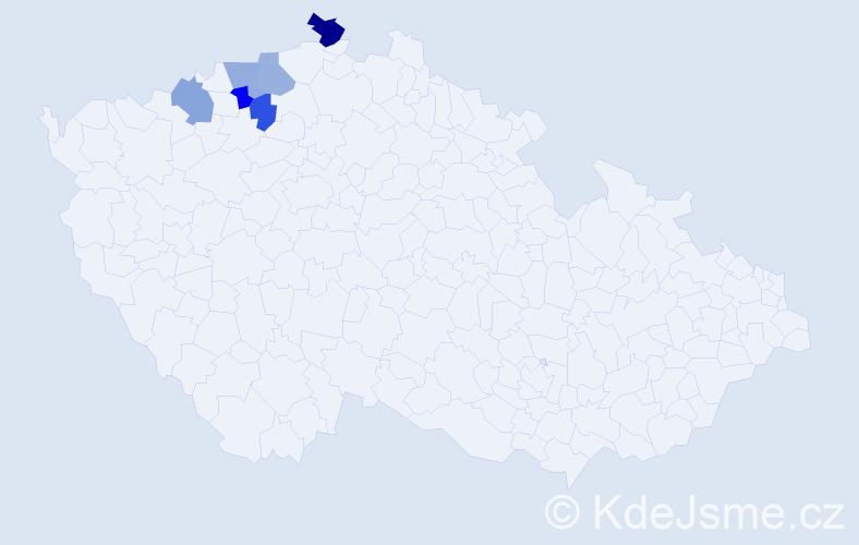 Příjmení: 'Ellmrichová', počet výskytů 7 v celé ČR