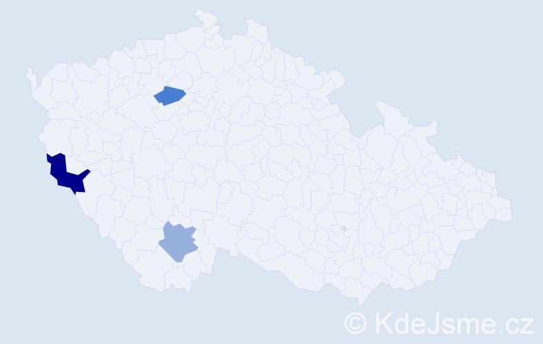 Příjmení: 'Jarolin', počet výskytů 4 v celé ČR