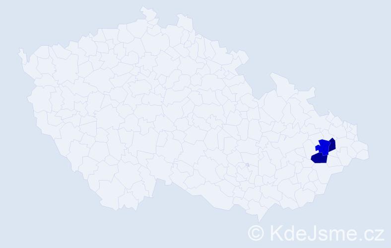 Příjmení: 'Cajsbergerová', počet výskytů 3 v celé ČR