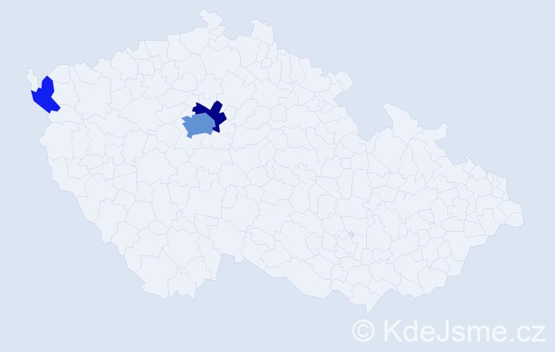 Příjmení: 'Didunyková', počet výskytů 10 v celé ČR