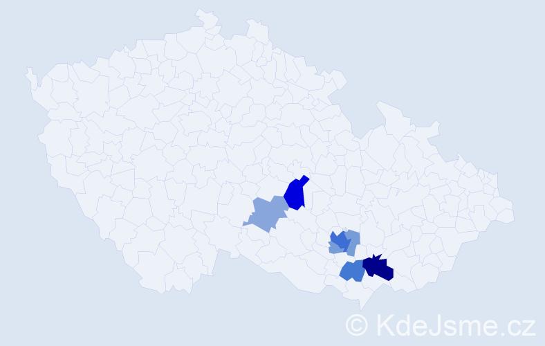 Příjmení: 'Kundelius', počet výskytů 15 v celé ČR