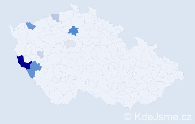 Příjmení: 'Basakin', počet výskytů 13 v celé ČR