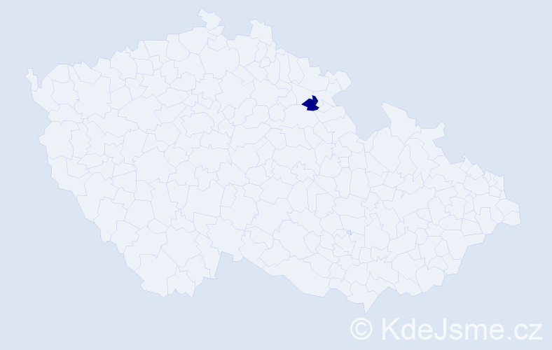 """Příjmení: '""""Al Sofy""""', počet výskytů 4 v celé ČR"""