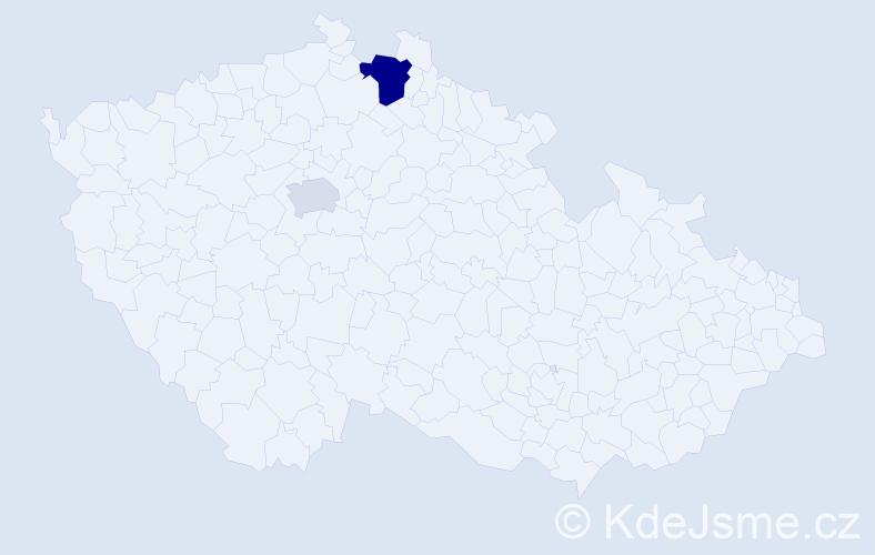Příjmení: 'Ballaty', počet výskytů 8 v celé ČR