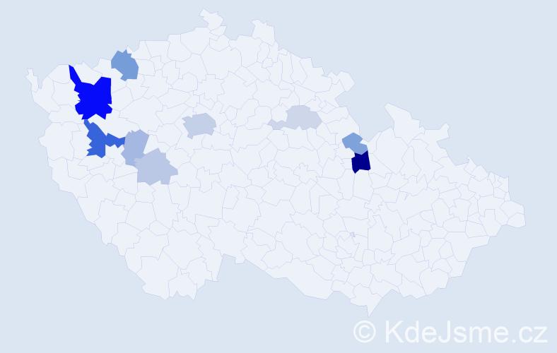 Příjmení: 'Baumgartl', počet výskytů 30 v celé ČR