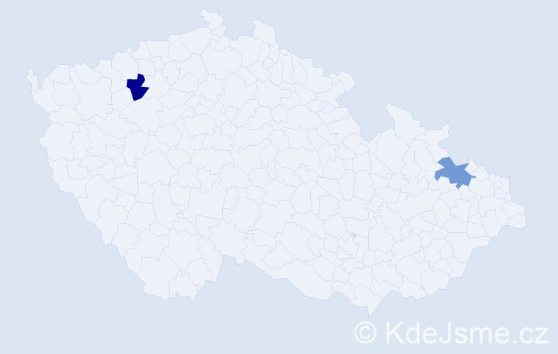 Příjmení: 'Ignátová', počet výskytů 2 v celé ČR