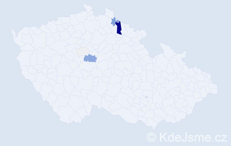 Příjmení: 'Gernert', počet výskytů 8 v celé ČR