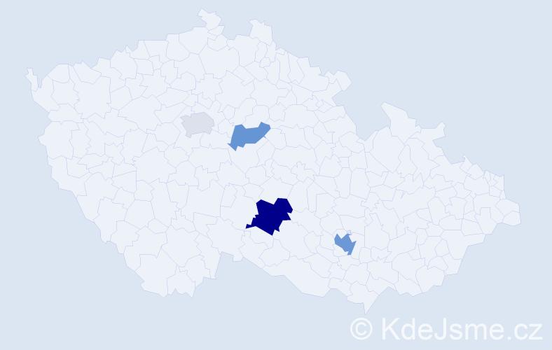 Příjmení: 'Atanasčev', počet výskytů 8 v celé ČR