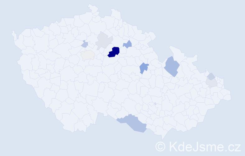 Příjmení: 'Knyplová', počet výskytů 24 v celé ČR