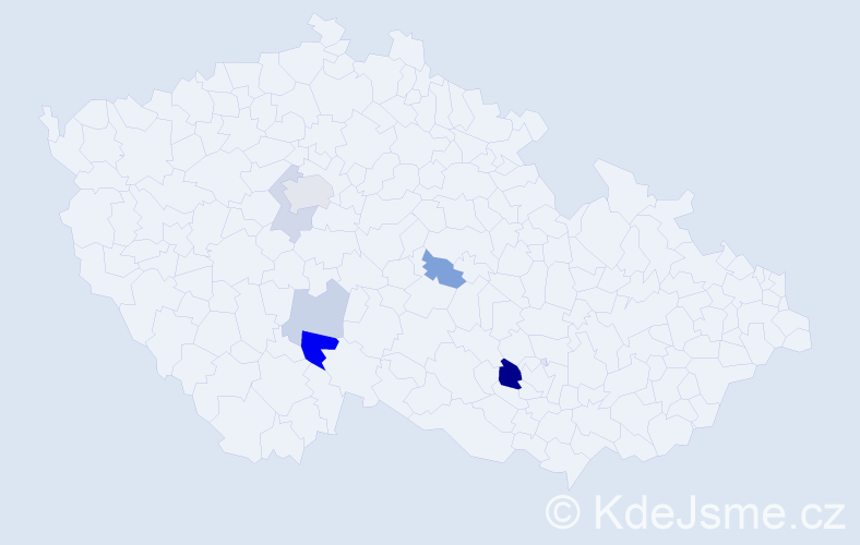 Příjmení: 'Benhart', počet výskytů 13 v celé ČR