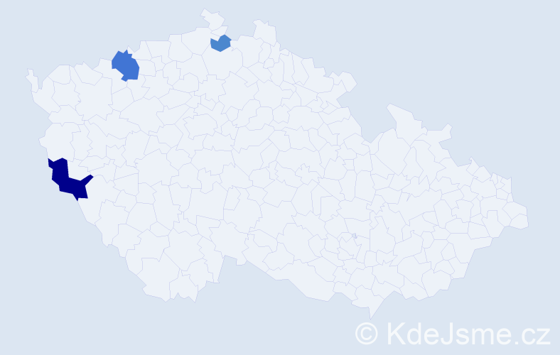 Příjmení: 'Dyrová', počet výskytů 7 v celé ČR