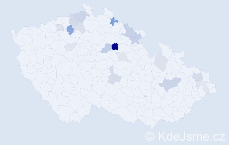 Příjmení: 'Geletič', počet výskytů 33 v celé ČR