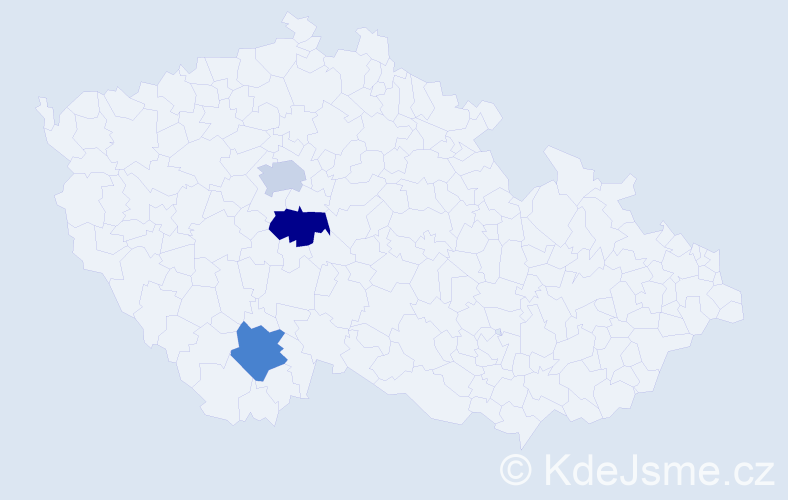 Příjmení: 'Espositová', počet výskytů 3 v celé ČR