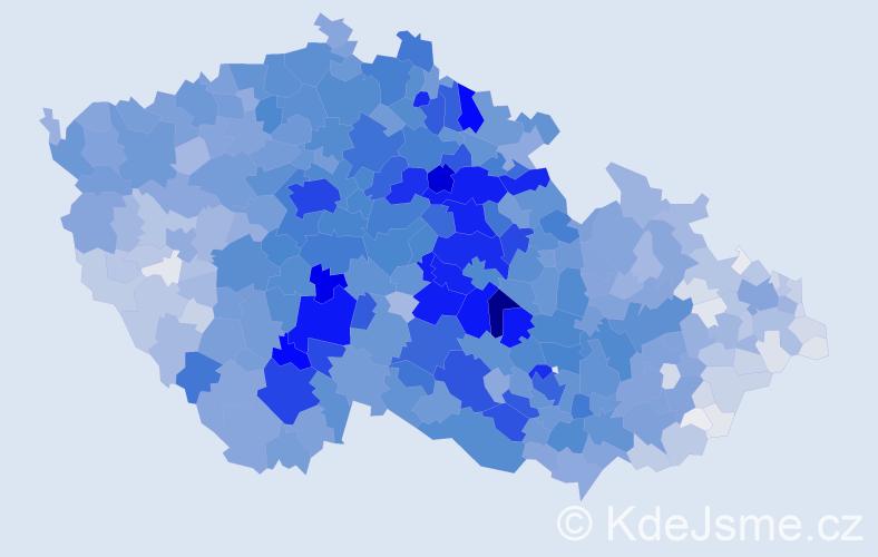 Příjmení: 'Novotná', počet výskytů 25271 v celé ČR