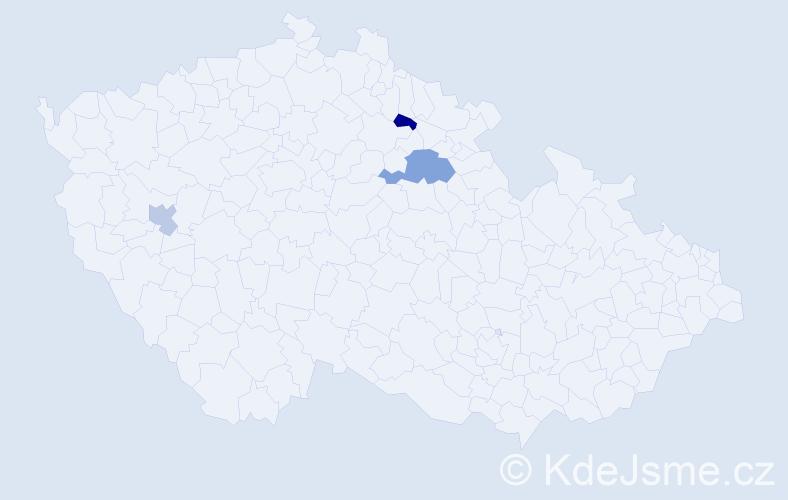 Příjmení: 'Kikinčuková', počet výskytů 4 v celé ČR