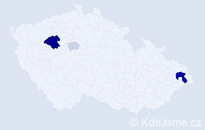 Příjmení: 'Adamišin', počet výskytů 7 v celé ČR