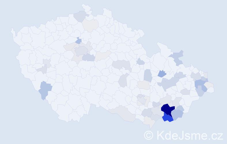 Příjmení: 'Galuška', počet výskytů 261 v celé ČR
