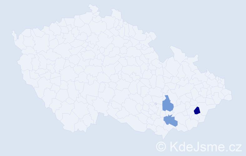 Příjmení: 'Blanarschová', počet výskytů 6 v celé ČR
