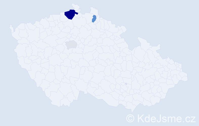 Příjmení: 'Beutlerová', počet výskytů 5 v celé ČR
